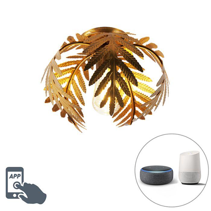 Lampă-de-tavan-inteligentă-de-epocă-aur-24-cm-incl.-WiFi-ST64---Botanica