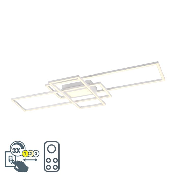 Lampă-de-plafon-albă,-cu-LED,-telecomandă-reglabilă-în-3-trepte---Riha