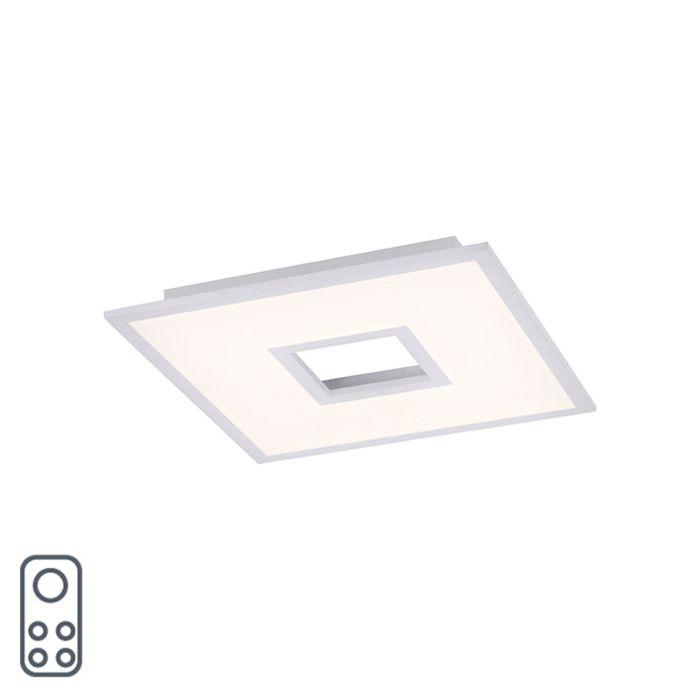 Lampă-de-plafon-de-design-alb-45-cm-incl.-LED-și-dimmer-RGB---Plăci