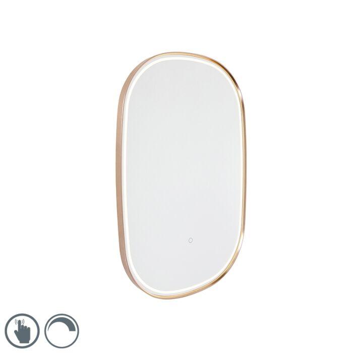 Oglindă-de-baie-cupru-incl.-LED-cu-dimmer-tactil-oval---Miral