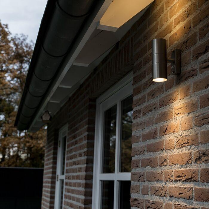 Lampă-de-exterior-Duo-din-oțel