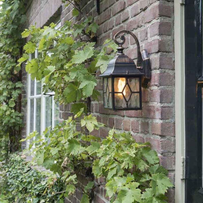 Lanternă-de-perete-romantică-în-aer-liber-din-bronz---Londra
