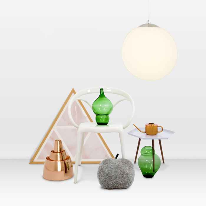 Lampă-suspendată-modernă-sticlă-40cm---Ball