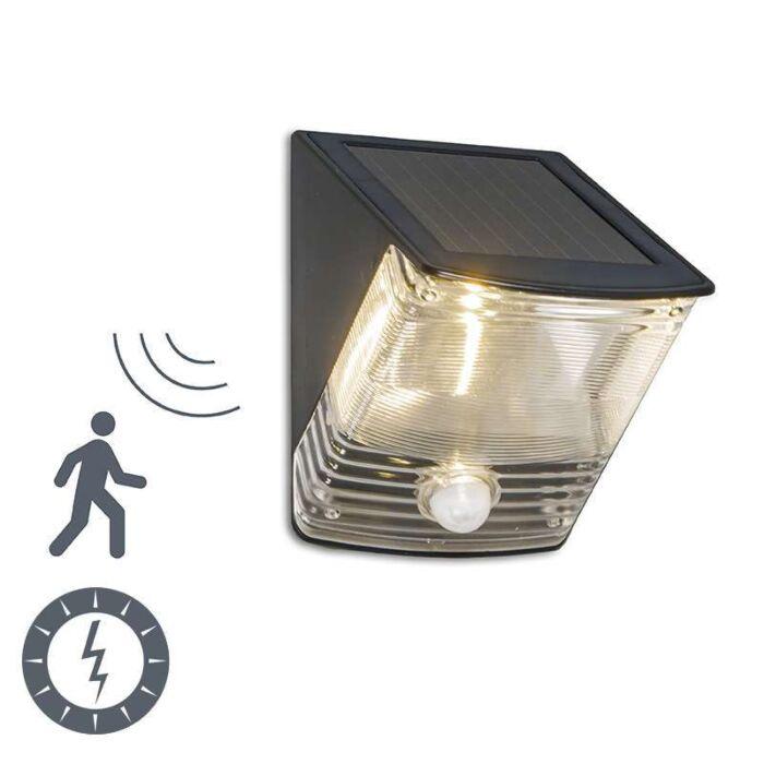Lampă-exterioară-LED-închis-cu-detector-solar-de-mișcare