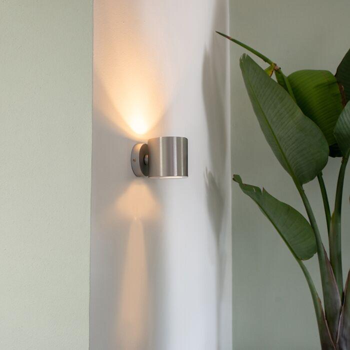 Lampă-de-perete-modernă-rotundă-din-aluminiu---Efect