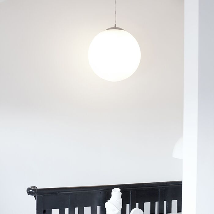Lampă-suspendată-scandinavă-sticlă-opală-50cm---Ball-50