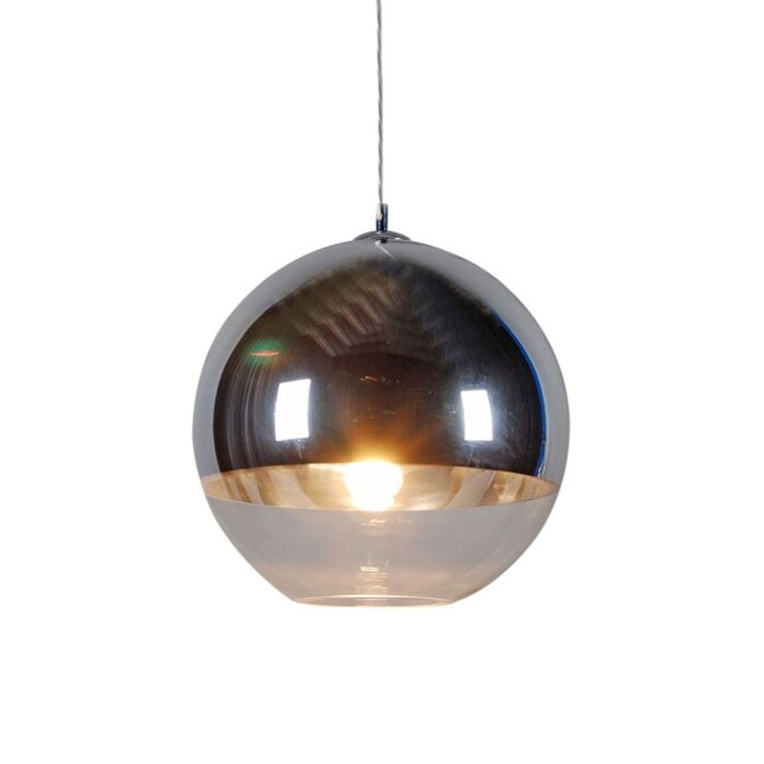 Lampă-suspendată-Ball-40-argintie
