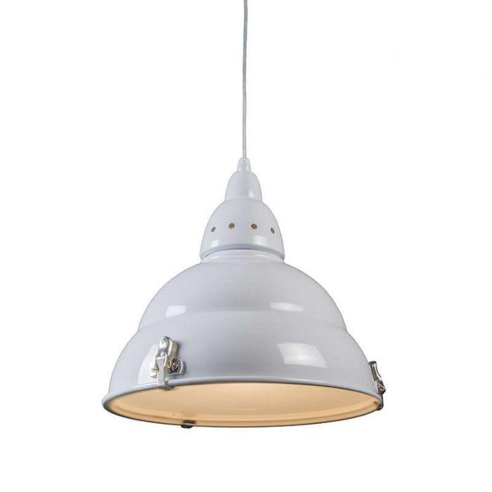 Lampă-suspendată-albă-din-fabrică