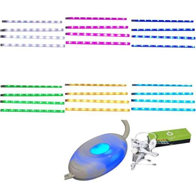 Set-de-patru-benzi-LED-RGB