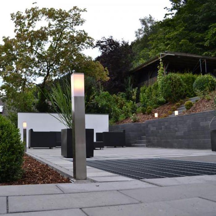Lampă-de-exterior-modernă-80-cm-oțel---Malios