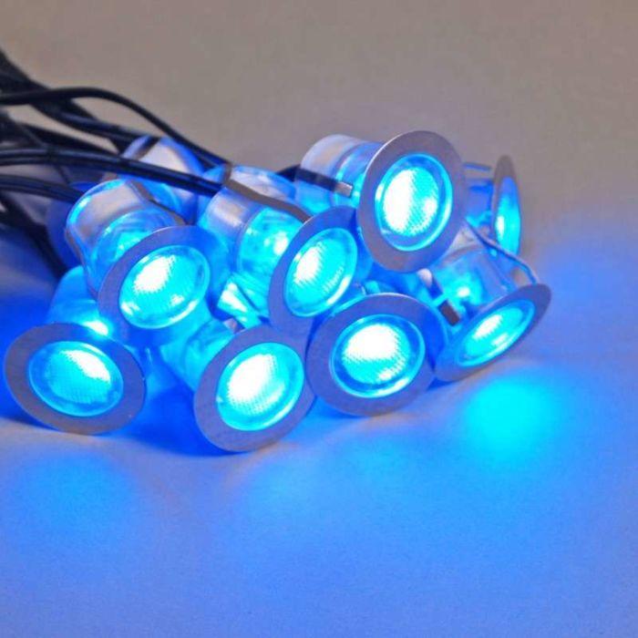 Set-de-instalare-LED-Komo-de-10-bucăți-IP65-albastru