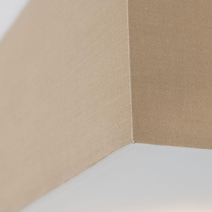 Plafoniera-pătrată-modernă-bej-35cm---Tambur