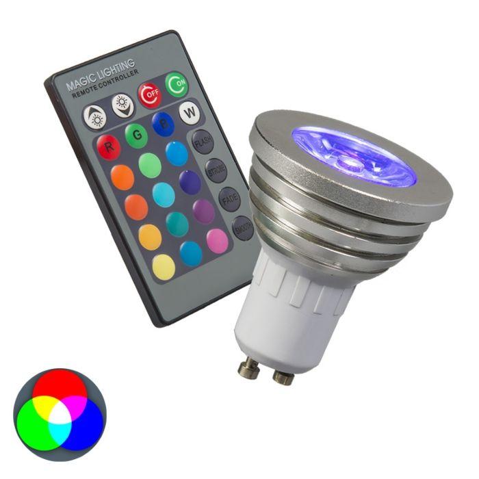 Lampă-RGB-GU10-cu-telecomandă