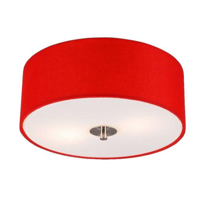 Lampă-modernă-de-tavan-roșu-30-cm---Tambur