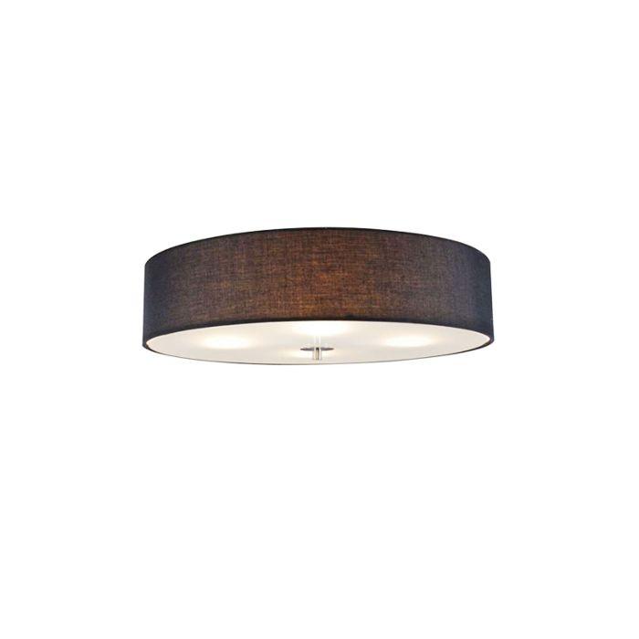 Lampă-de-tavan-țară-negru-50-cm---Tambur