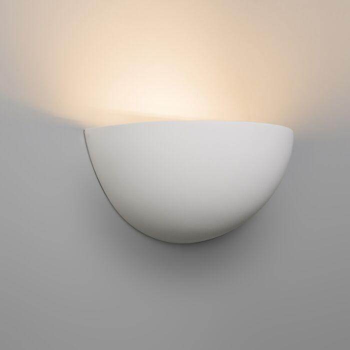 Lampă-de-perete-modernă-tencuială-albă---Gipsy