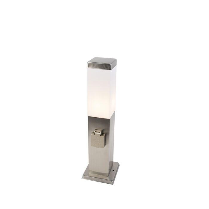 Lampă-modernă-de-exterior-de-45-cm-din-oțel-cu-soclu-IP44---Malios