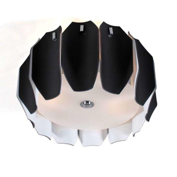 Lampă-de-tavan-Archo-40-crom---negru