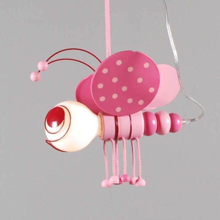 Lampă-suspendată-Kids-Bee-Pink