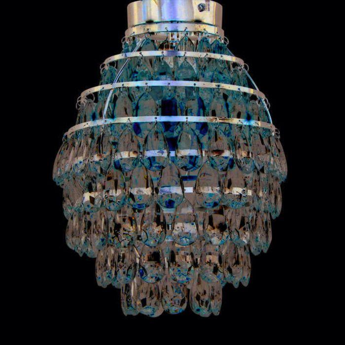 Lampă-de-tavan-Pinecone-cromată