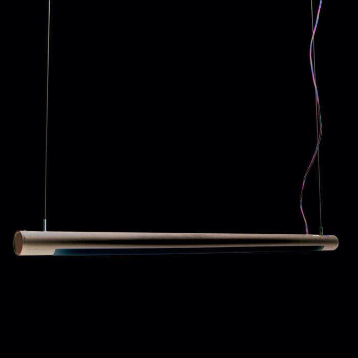 Lampă-suspendată-Tube-O-argintiu-28W