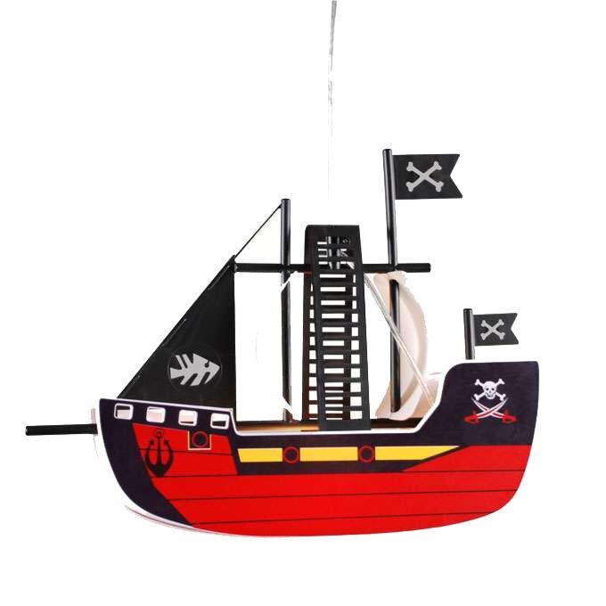Lampă-suspendată-Nava-pirat-pentru-copii