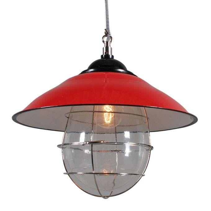Lampă-suspendată-Skipper-roșu