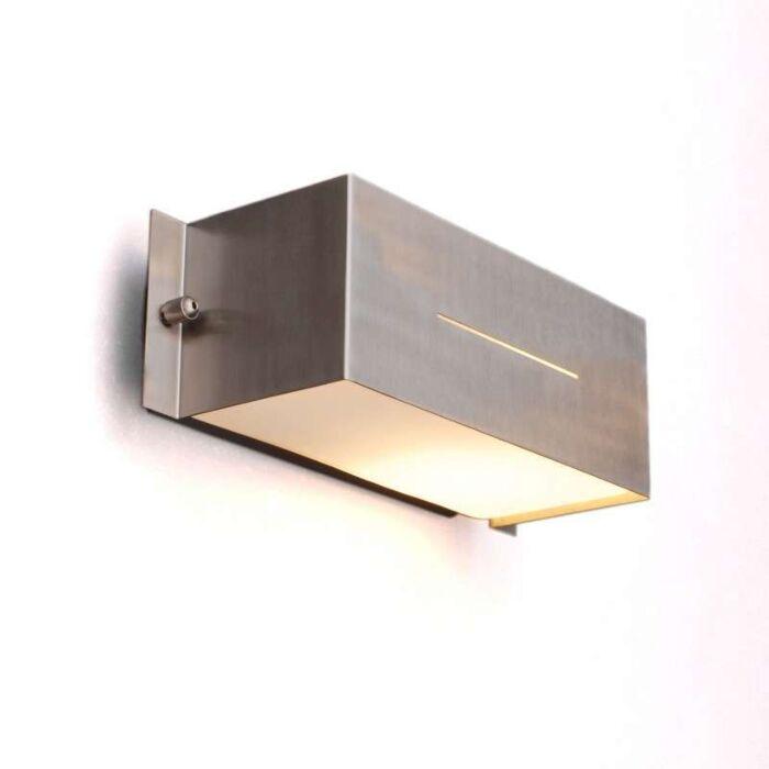 Lampă-de-exterior-Celine-wall-Square-din-oțel-inoxidabil