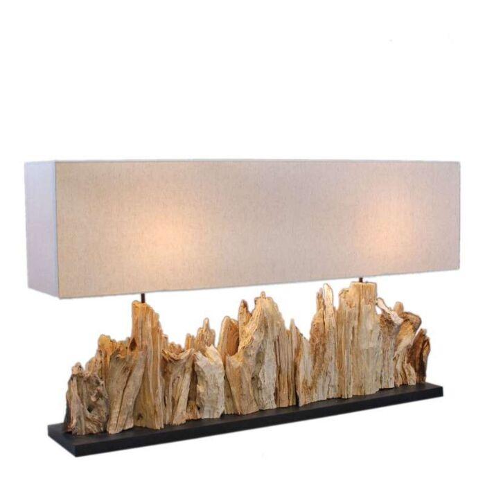 Lampă-de-masă-Thak-Extra-Grande-(115cm-!!)-cu-umbră-de-in