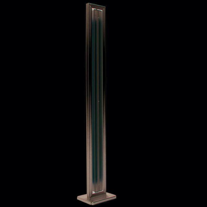 Lampă-de-podea-Tub-drept-argintiu