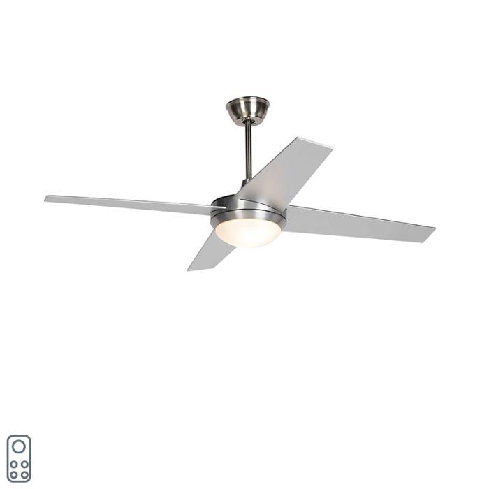 Ventilator-de-tavan-argintiu-cu-telecomandă---Roar-52
