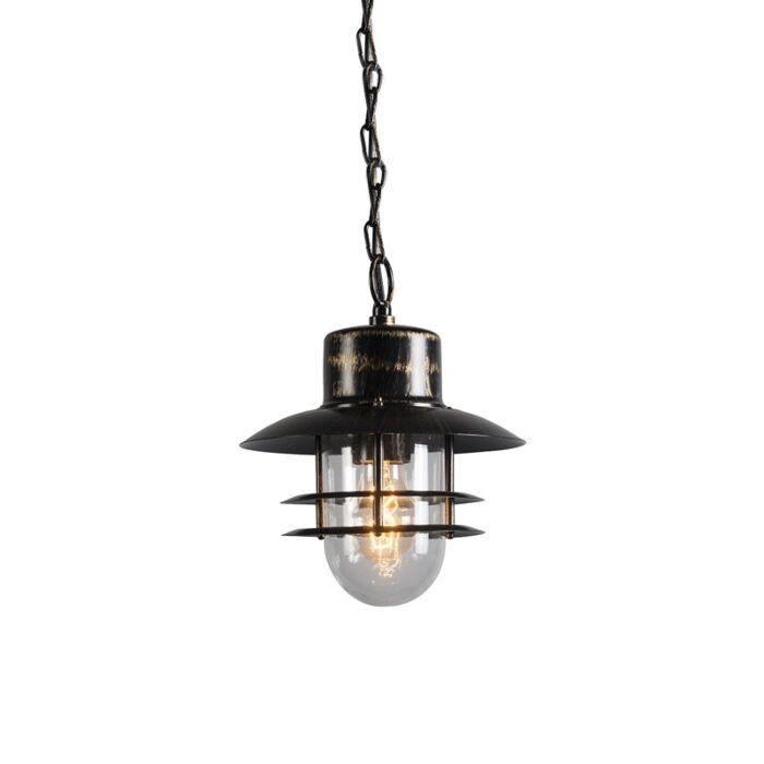 Lampă-suspendată-retro-bronz---Shell