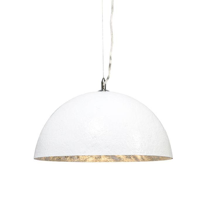 Lampă-suspendată-Magna-40-alb---argintiu