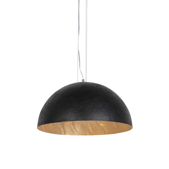 Lampă-suspendată-industrială-negru-cu-aur-50-cm---Magna