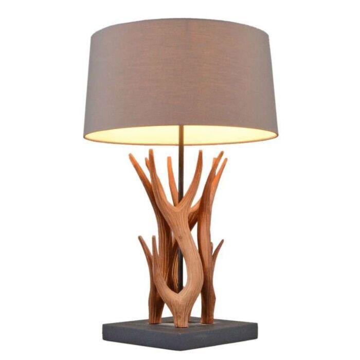 Lampă-de-masă-Yindee-natural-cu-nuanță-maro