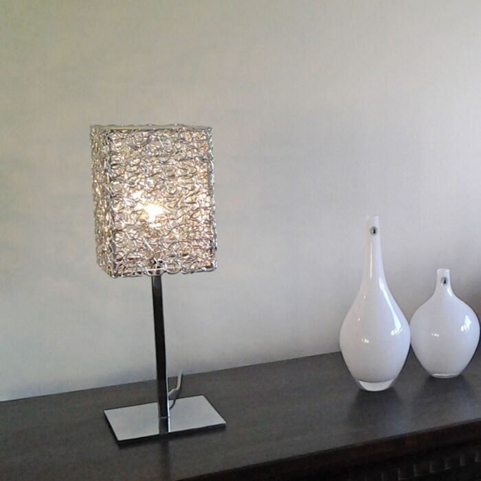 Lampă-de-masă-Draht-Square-L-aluminiu