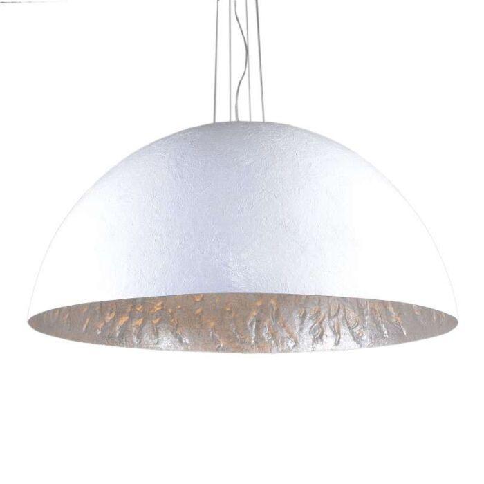 Lampă-suspendată-Magna-120-alb---argintiu