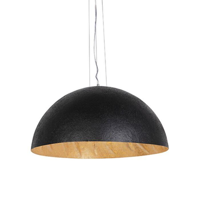 Lampă-suspendată-industrială-neagră-cu-aur-70-cm---Magna
