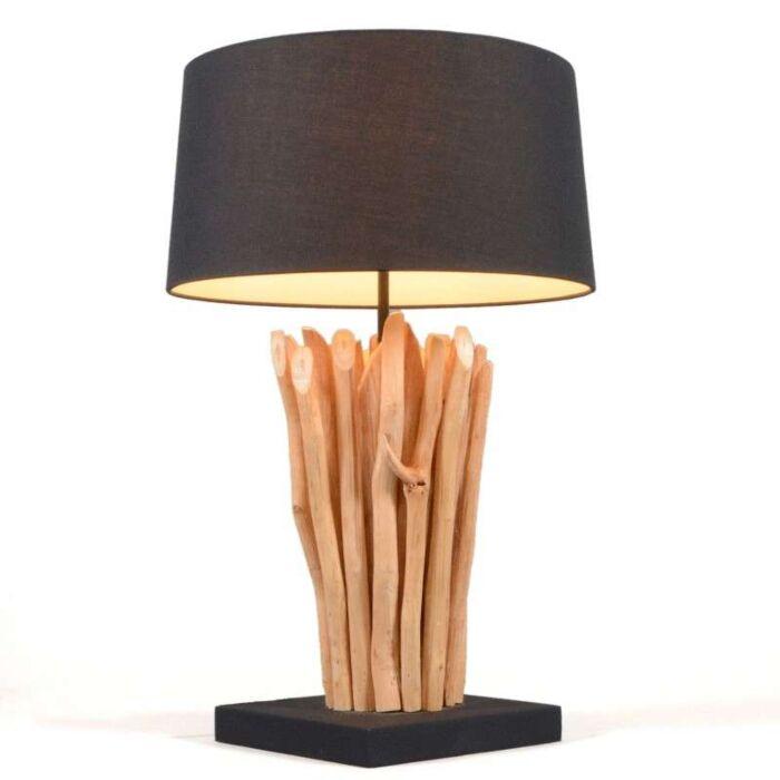 Lampă-de-masă-Phatom-natural-cu-nuanță-neagră