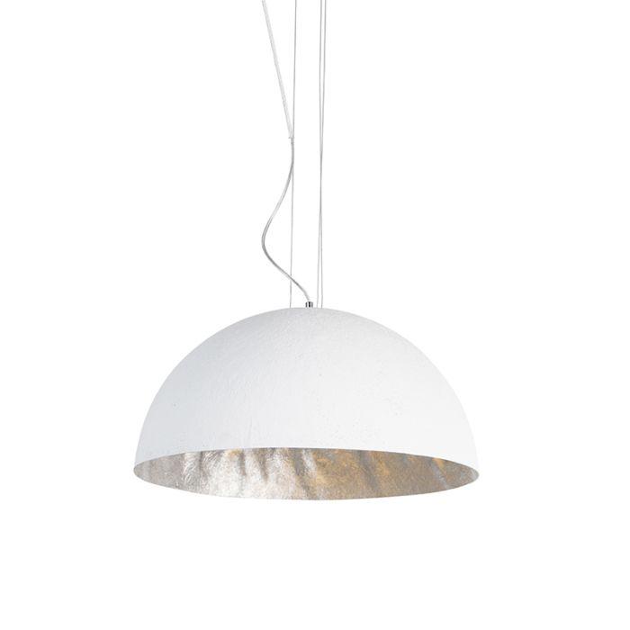 Lampă-suspendată-modernă-albă-50-cm---Magna