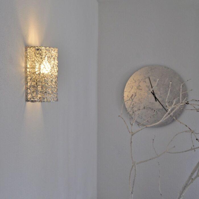 Lampă-de-perete-Draht-pe-jumătate-din-aluminiu