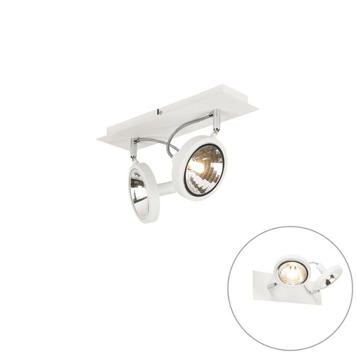 Design-spot-alb-cu-2-lumini-reglabil---Nox