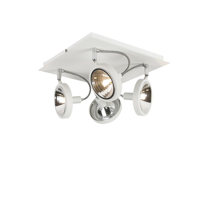 Design-spot-alb-cu-4-lumini-reglabil---Nox