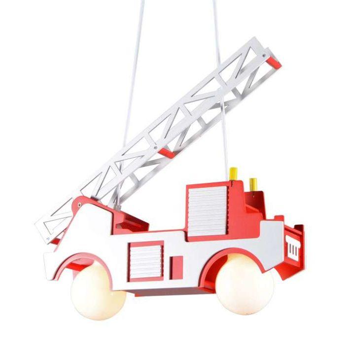 Lampă-suspendată-Mașină-de-pompieri-pentru-copii