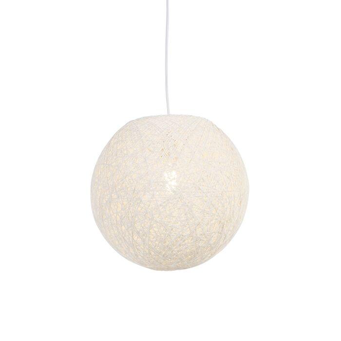 Lampă-suspendată-de-țară-albă-35-cm---Corda
