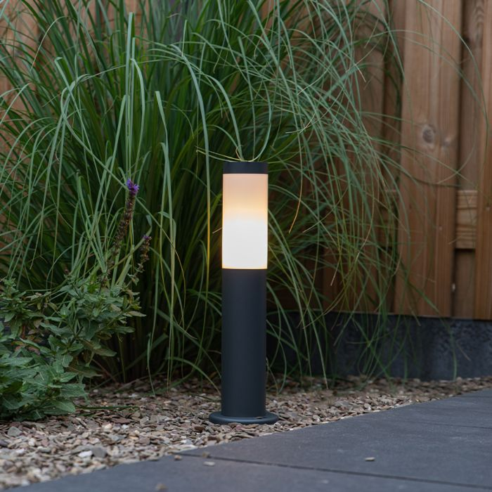 Lampă-exterioară-stalp-antracit-45-cm-IP44---Rox