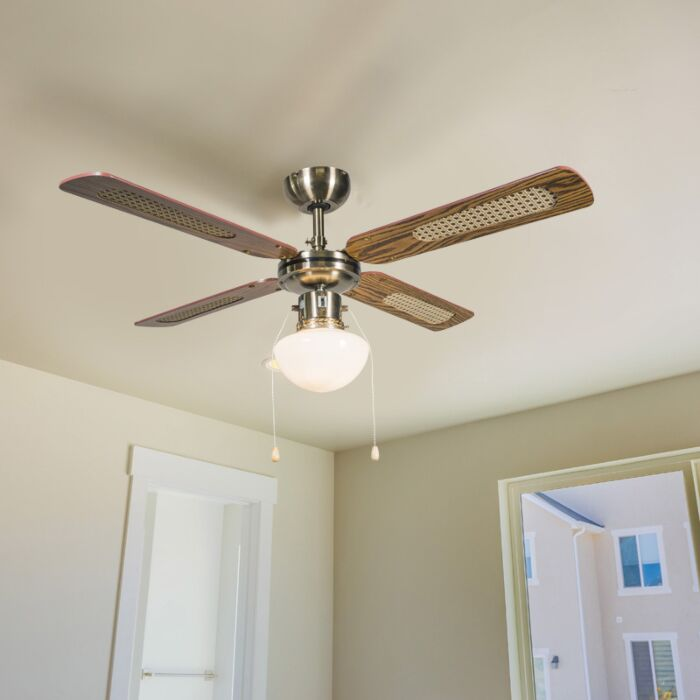 Ventilator-industrial-de-tavan-cu-lampă-100-cm-lemn---Wind