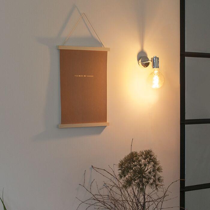 Lampă-de-perete-modernă-cromată---Facil-1