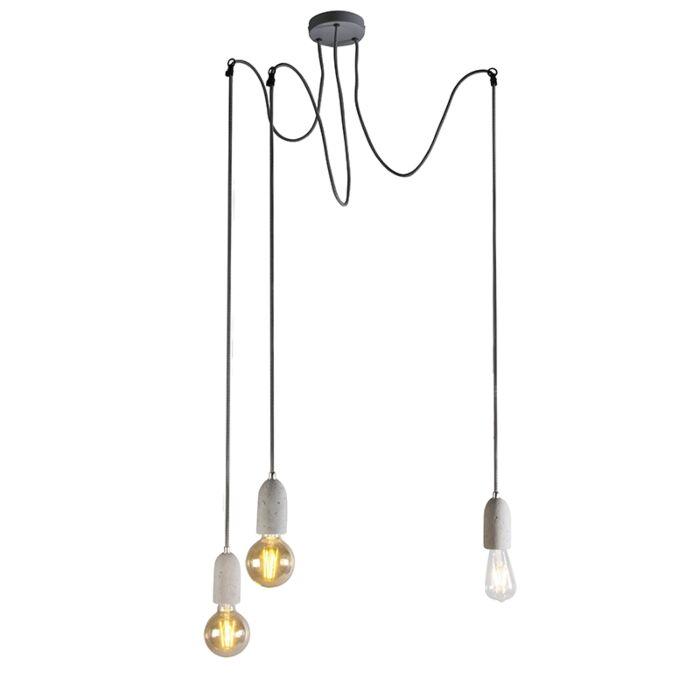 Lampă-suspendată-industrială-din-beton-gri---Cava-3