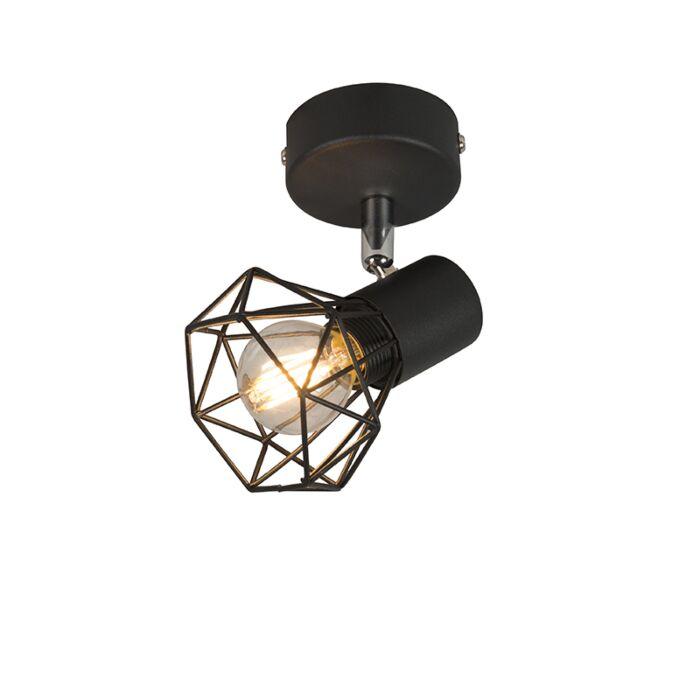 Spot-Art-Deco-negru-rotativ-și-basculabil---Mosh-1